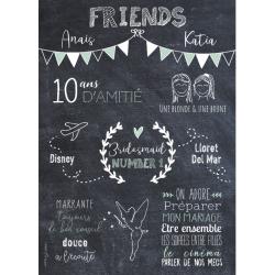 Affiche personnalisée pour anniversaire avec dessins