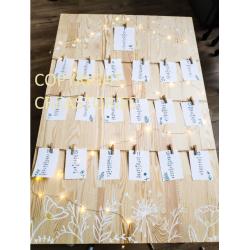 Plan de table champêtre