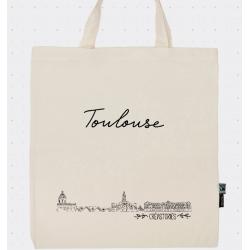 Sac tote bag avec la ville de Toulouse