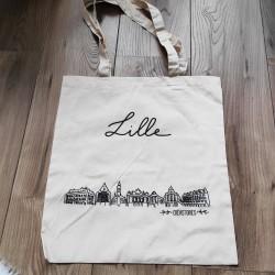 sac tote bag avec dessin de ville ou pays