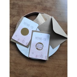 carte à gratter annonce grossesse rose