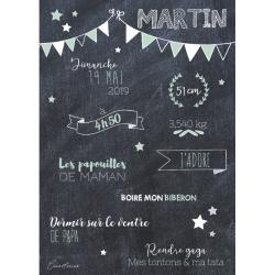 Affiche étoiles et fanions