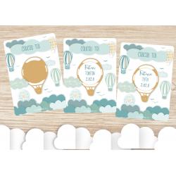 carte à gratter tonton tata avec des montgolfières