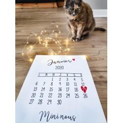 Affiche calendrier avec la date et l'inscription de votre choix