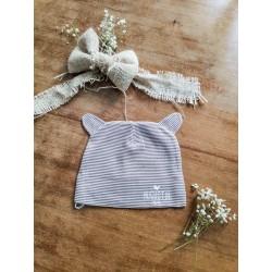 Bonnet de naissance personnalisé