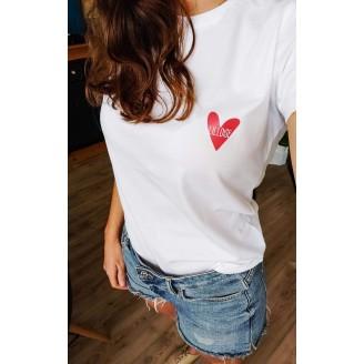 tshirt coeur rouge